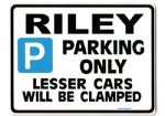 RILEY Large Metal Sign for 1.5 rma pathfinder 2.6 elf